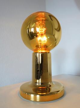 Minimalistische Vintage Tischlampe Kugel Leuchte Philips Space Age 1970 Gold
