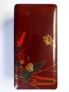 Kleine antike Lack Schatulle Teedose China um 1900