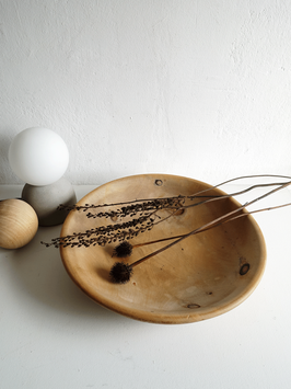 Handgedrechselte Holzschale 37cm mit Holzkugel