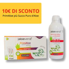 PrimAloe più Succo Puro d'Aloe Vera con Antiossidanti