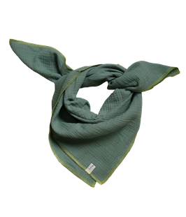 Musselintuch grün