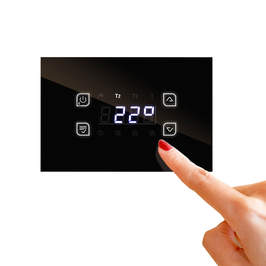 GLH110 Temperatur-Differenzregler GLASS TOUCH