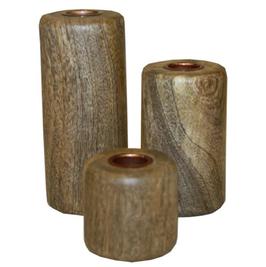 VAN DEURS Holz-Kerzenständer 3er-Set
