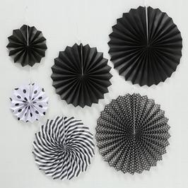 Dekohänger schwarz/weiß 6er Set