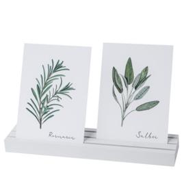 EULENSCHNITT Kartenständer weiß 25cm