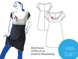 Papierschnittmuster Kleid Ferrara