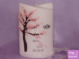 Hochzeitskerze Baum Kati