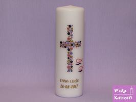 Taufkerze Kreuz Kreise 15