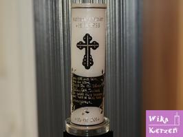 Trauerkerze und Gedenkkerze Kreuz mit Text 1