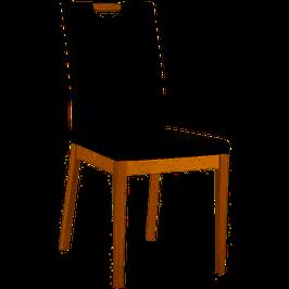 Aktions-Stühle Kunstleder, Eiche