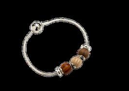 Wooden- & Silver bracelet  Waidzeit bracelet set