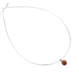 Silver necklace red sandalwood  - starter set