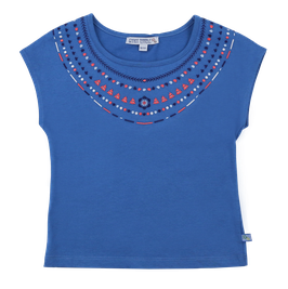 "t-shirt ""stickerei"" in blau von enfant terrible"
