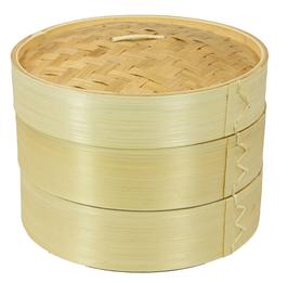 Bambuskorb / Nähkorb °Etage° - natur