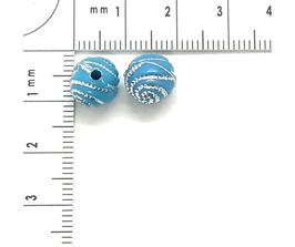 Kunststoff Hellblau verziehrt | ca.8 mm