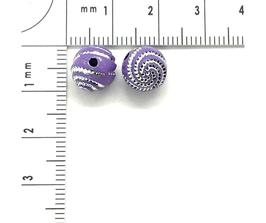 Kunststoff Violett Hell verziehrt | ca.8 mm