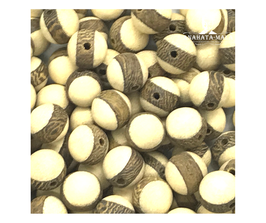 Holzperle beige-braun | ca. 5mm