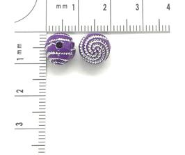 Kunststoff Violett Dunkel verziehrt | ca.8 mm