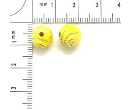 Kunststoff Gelb verziehrt | ca.8 mm