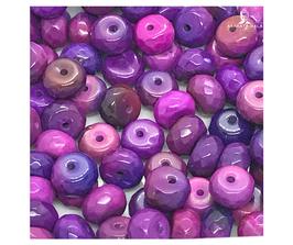 ACHAT Violett Facettiert Rondelle | Ø ca. 7mm