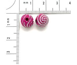 Kunststoff Rosa Dunkel verziehrt | ca.8 mm