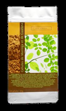 Gélules végétales de Moringa et de Guarana