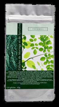 Gélules végétales de Moringa et Spiruline