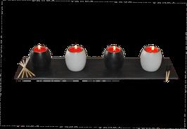 Teelichthalter 4er-Set Oval