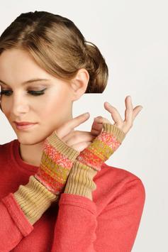 Multi Jacquard Mittens Gloves