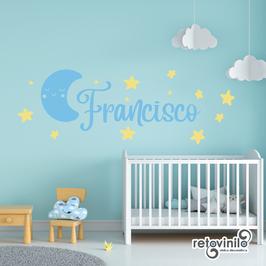 Infantiles / Nombres / Luna dormida y estrellas
