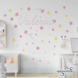 Infantiles / Nombres / Flores y abejas
