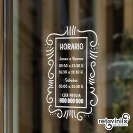 Horarios - Lineas vintage