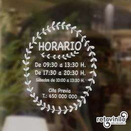 Horarios - Circulo Natural