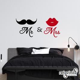 Cabecero - Mr Bigote y Mrs Labios