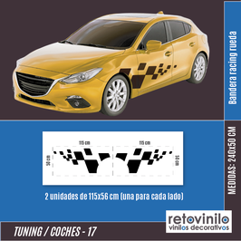 17 - Banderas Racing Ruedas