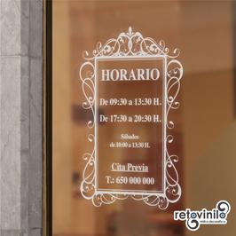 Horarios - Vintage Vertical 1