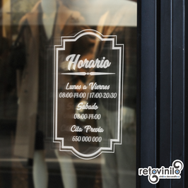 Horarios - Vintage Vertical 2