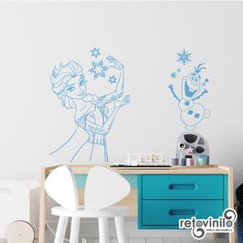 Infantiles / Dibujos / Elsa y Olaf