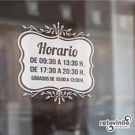 Horarios - Vintage elegante relleno