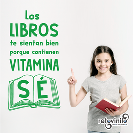 Vinilo decorativo educativo - Vitamina Sé