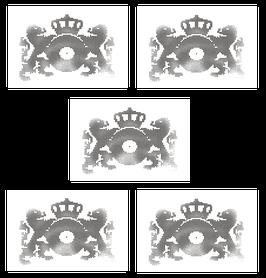 Classic Blank & Jones Logo Sticker
