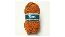 Horstia Tweed Farbe 13 orange
