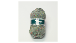 Horstia Tweed Farbe 16 hellgrau-blau