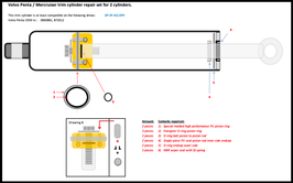 Volvo Penta DP-SP-AQ trim cylinder repair set (3860881 / 872612)