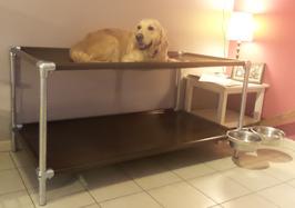 Lit  Superposé pour chien de taille Small 970 mm x 680 mm  H 540 mm ( hauteur modifiable)