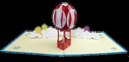 Amoureux en montgolfière