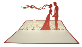 Mariés sur lit de roses