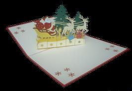 Père Noël en tournée de cadeaux