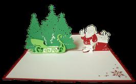 Père Noël devant son traineau