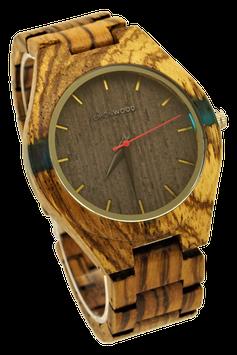 """Armbanduhr aus Zebranoholz, """"Freedom"""""""
